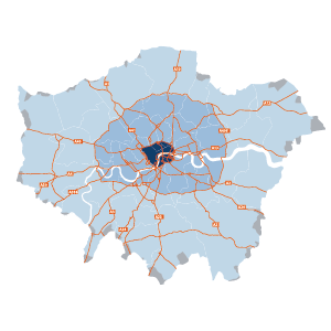 Map of Greater London - shows restricted area for Direct Vision Standard