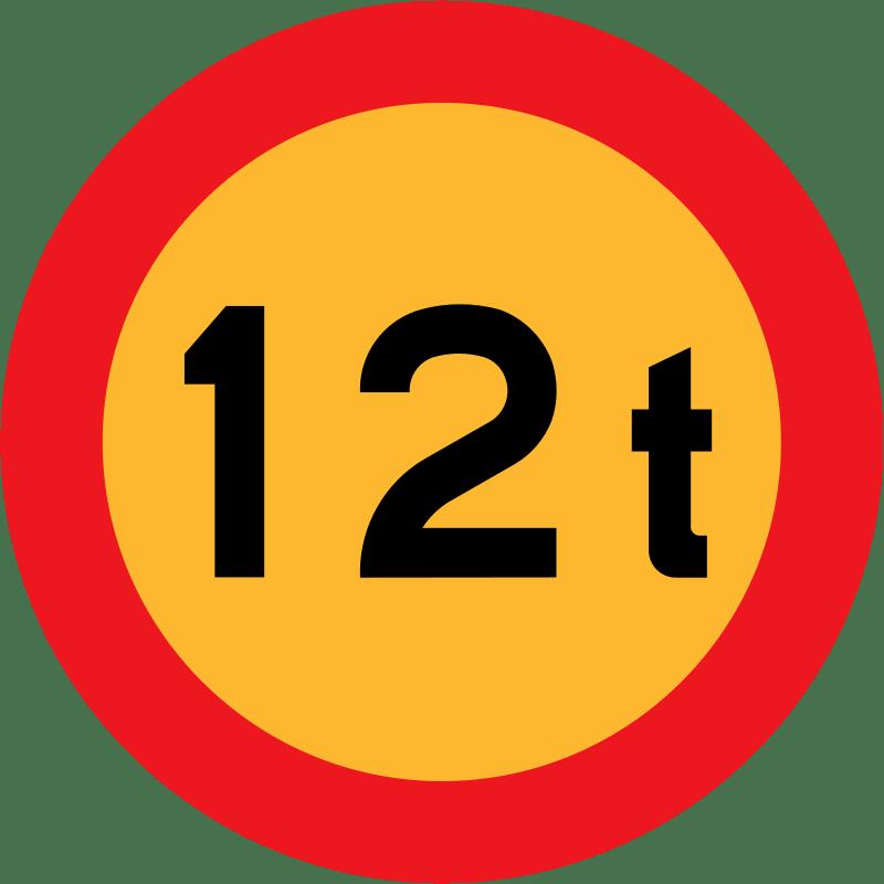 12 Tonne Sign